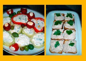 Венгерские закуски - сырно-творожный и яично-ореховый паштет