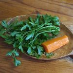 Петрушка с вареной морковью