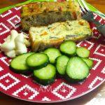 Омлет рыбный (запеканка) на тарелке