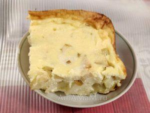 Вкусное творожное суфле с яблоками и грушами