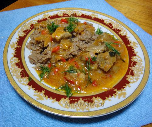 Как потушить говядину с овощами - рецепт гуляша из говядины с подливкой!