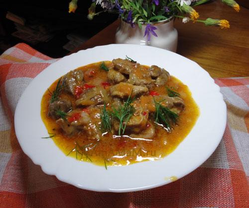 Гуляш с подливкой - очень вкусный суп или второе блюдо!