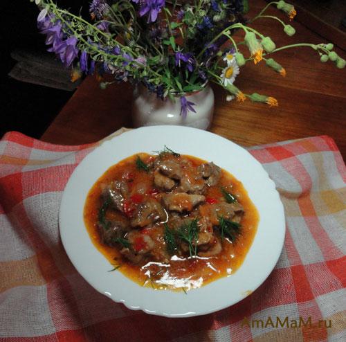 Как готовить говяжий гуляш - рецепт гуляша с фото