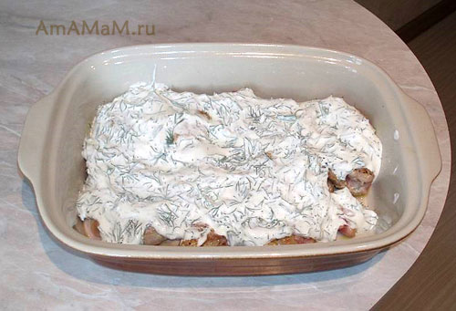 Запекание бедрышек под соусом - рецепт