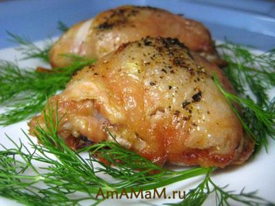 Вкусные куриные кусочки, запеченные в духовке