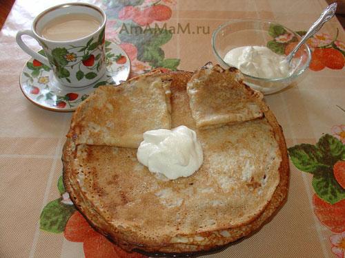 Вкусная еда из простых продуктов - тонкие блины на молоке!