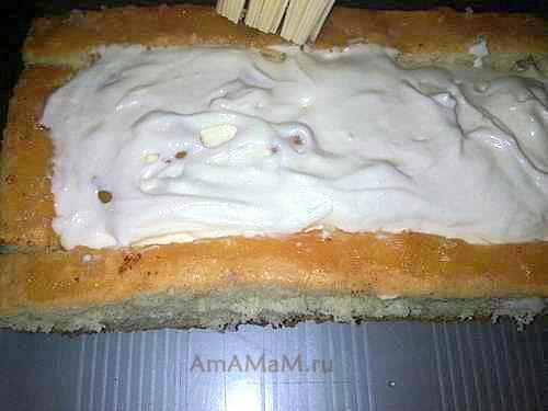Как сделать торт - фигурку губки Боба из мультфильма