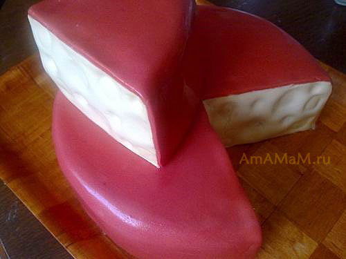 Как делать торт в виде головки сыра с мышками