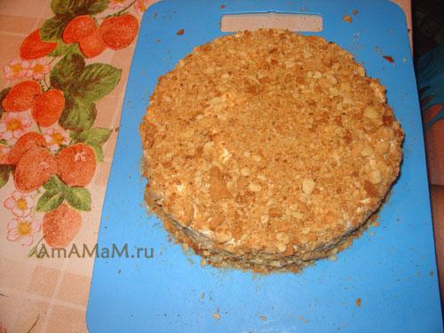 Как выглядит домашний рассыпчатый торт Наполеон