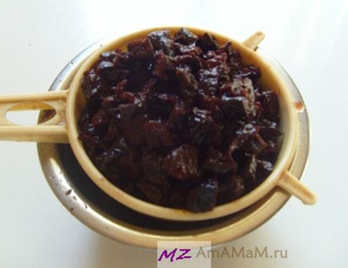 Как приготовить бисквит с черносливом