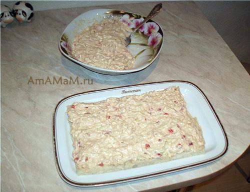 Как сделать соленый торт с хлебом - простой рецепт и фото