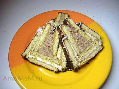 Торт творожный домик в нарезке