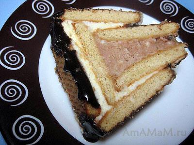Торт из творога и печенья Творожный домик не надо выпекать! Приготовь крем и собери торт!