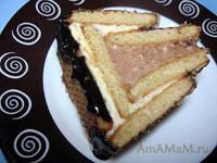 Очень вкусный торт без выпечки из печенья - Творожный домик