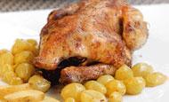 Рецеп приготовления вкусной целой куры с виноградом в духовке - просто и вкусно!