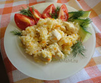 Как приготовить куриную грудку с рисом - простой рецепт каши (плова)