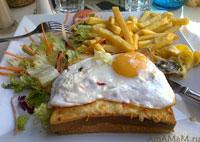 Вкусные рецепты: бутерброд Крок Месье и французский завтрак в Париже