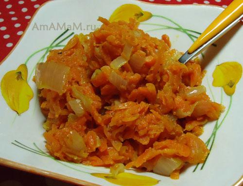 Как выглядит икра из моркови - фото и рецепт