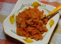 рецепт салата морковной икры