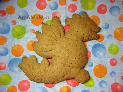 Как делать печенье в форме Дракона - подарок на Новый год