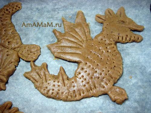 Как делать дракона (пряники-печенье) - простая технология с фото