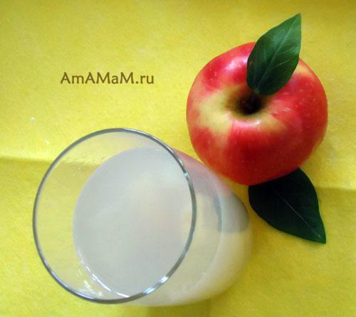 Как сварить яблочный кисель и как нарезат яблоки для киселя - рецепт и фото