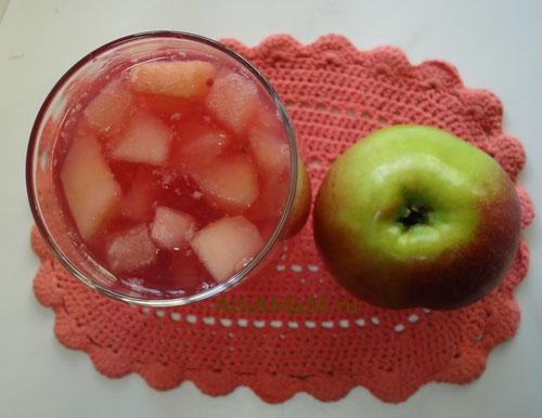 Какие яблоки класть в кисель - рецепт яблочного киселя и разные варианты нарезки фруктов