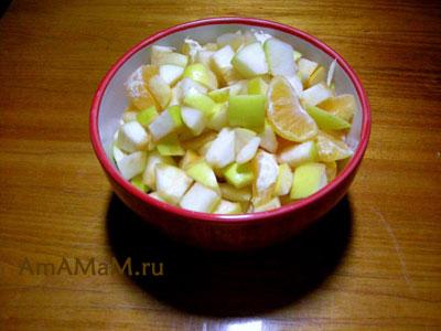 Фруктовая начинка из яблок, мандаринов и апельсинов для индоутки (или утки)