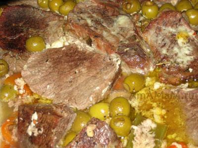 Вкусное рагу из телятины с оливками