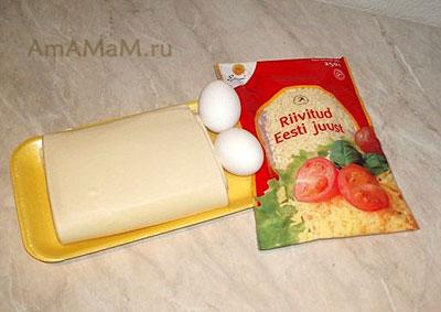 Состав продуктов для выпекания сырных эстонских рулетиков Juusturullid
