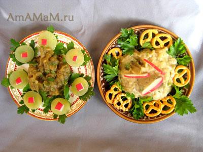 Мелидзаносалата обычный и с майонезом - фото и рецепт