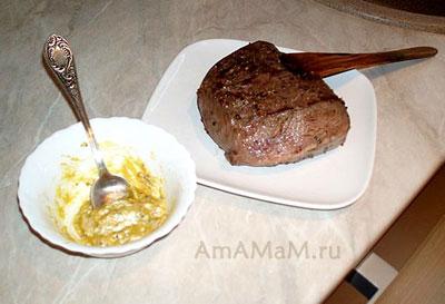 Соус из горчицы, чеснока для ростбифа