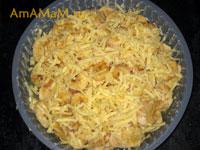 Приготовление бананового пирога с сыром и финиками - рецепт