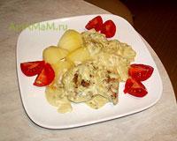 Вкусные и ароматные куриные бердышки в сливочном соусе с фенхелем