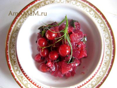 соус к мясу из красной смородины