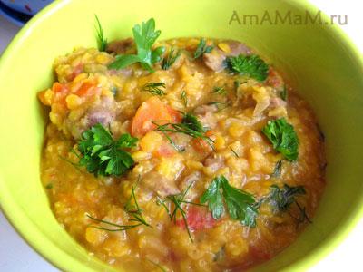 Суп из чечевицы с бараниной - рецепт с фото