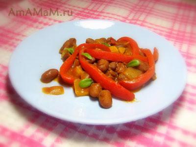 вкусная тушеная фасоль с болгарским перцем