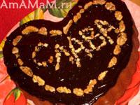 Французский шоколадный пирог с кусочками шоколада и мандаринами