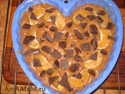 забрасываем мандарины и шоколад
