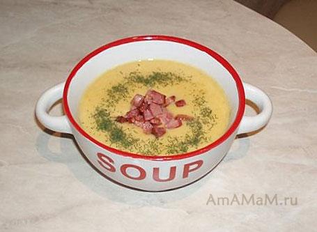 Очень вкусный, сытный, ароматный, нежный гороховый суп-пюре