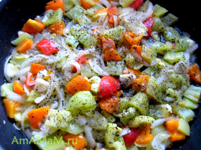 Поджарка из овощей для вкусного горохового супа