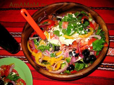 Греческий рецепт греческого салата