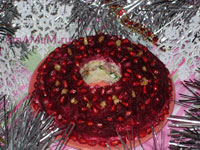 Праздничный салат Гранатовый браслет -с копченой курицей - вкусный, оригинальный салат на день рождения, новый год и другие праздники!