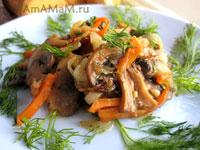 Очень вкусные жареные гриба с морковкой - постное вкусное блюдо
