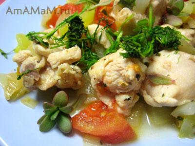 Жареная грудка с овощами по простому рецепту