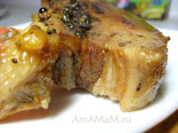 Рецепт свиной грудинки с фото
