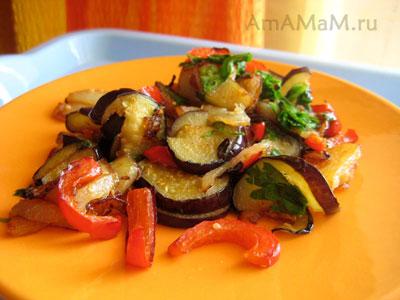 Вкусные, мягкие, сочные овощи, жареные в сковороде