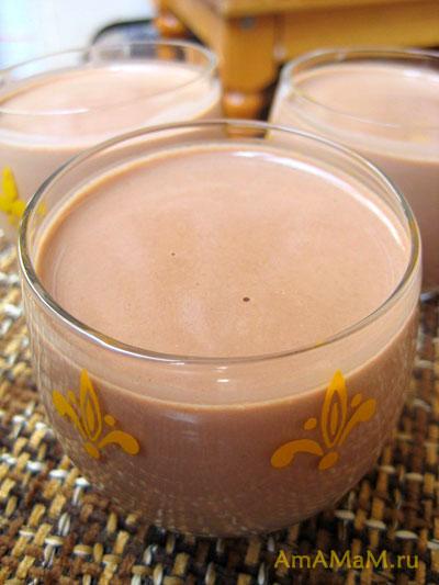Вкусное шоколадное желе - мусс