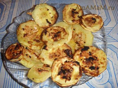 Вкусные жареные кабачки с чесноком, приготовленные в аэрогриле