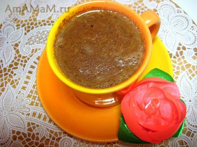 вкусный шоколадный напиток - какао